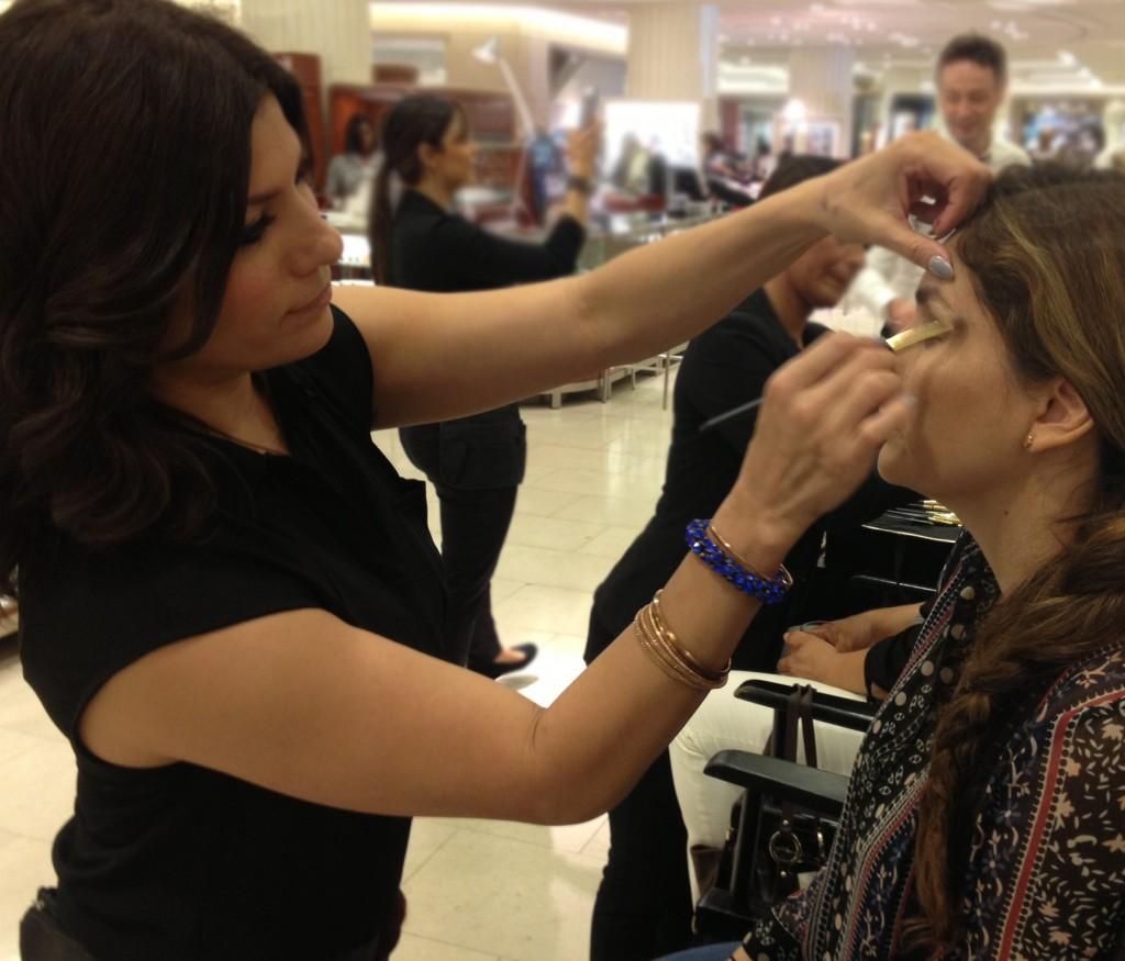 Makeup Artist Lisa Capuchino at Dolce & Gabbana Event