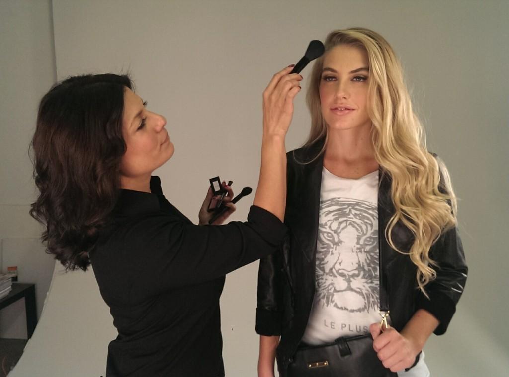 Lisa Capuchino with Model, Mari Alex