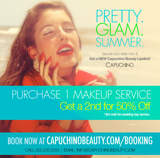 Pretty Glam Summer - Summer Makeup Deals from Capuchino Beauty