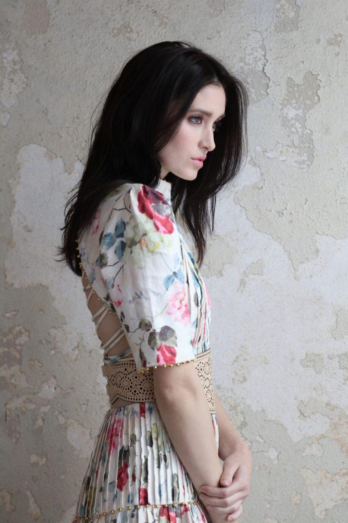 brunette-model-in-floral-print-dress-1-700x1050 Makeup Artist Portfolio
