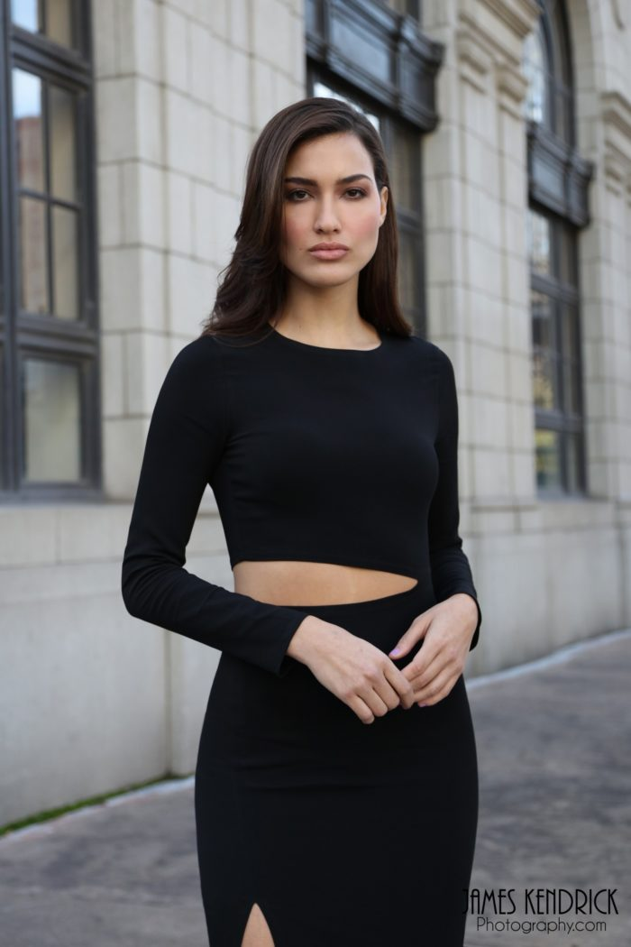 model-wearing-a-high-slit-dress-700x1050 Makeup Artist Portfolio